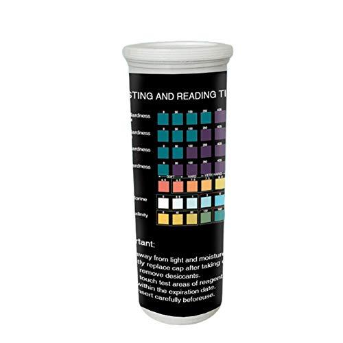 Nologo Calidad del Agua 50pcs Profesional Piscina Líquido de medición del Tanque de Pescados de ensayo pH Tiras de los Niveles de ácido Cuidado de la Salud Acuario 7 en 1