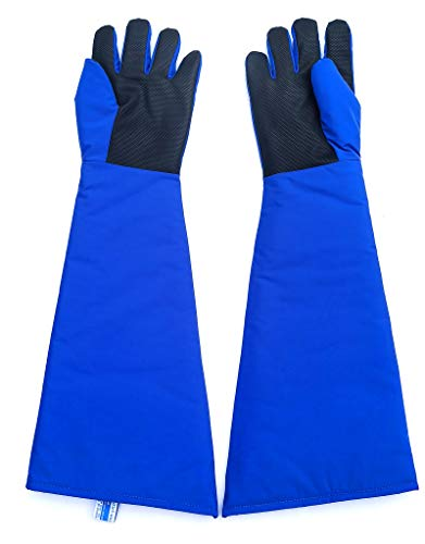 Inf-way 4 Sizes Long Cryogenic Gloves Waterproof Low Temperature Resistant LN2 Liquid Nitrogen Protective Gloves Cold Storage Safety Frozen Gloves (Large 27