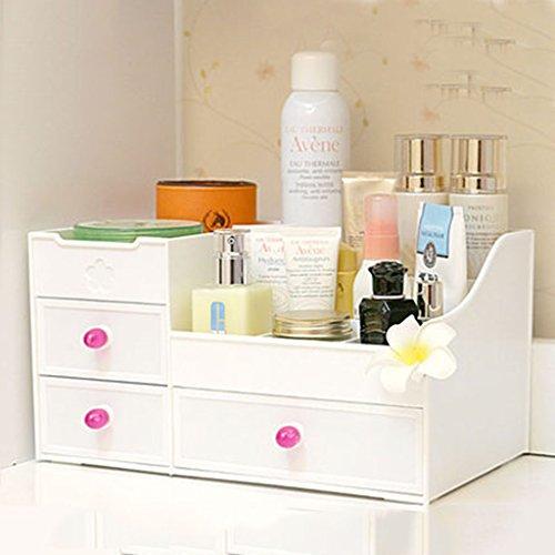 Coffrets de maquillage Boîte de Stockage de cosmétiques Support de Stockage de tiroir étagère de Table de Dressage Support de Stockage Multicouche 35.5 * 22.5 * 16.5cm (13.9 * 8.8 * 6.4inch)