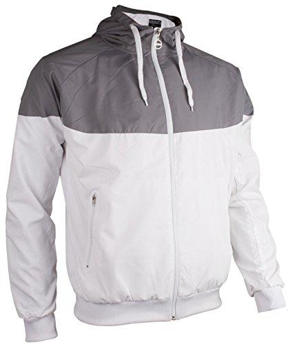 Avento Homme Sport et Veste de survêtement XL Weiss Grau