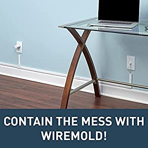 Wiremold Cord Cover CordMate II Cable Organizer Raceway Kit | Paintable On-Wall Cable Management to Hide Wires (up to 3) for Home TVs or Office Computers