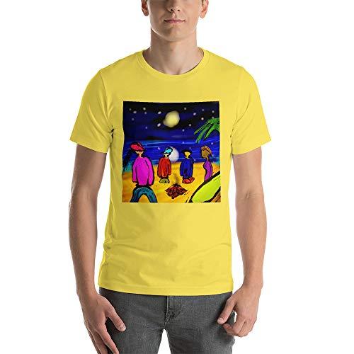 Cool Surfen Unisex T-Shirt Lagerfeuergeschichten