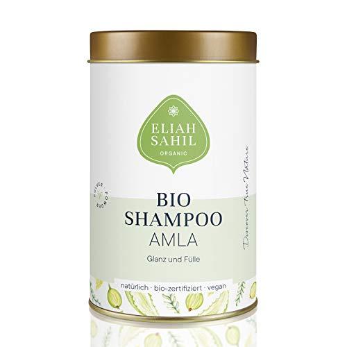 AMLA Bio Pulver Shampoo von ELIAH SAHIL 100 gr. Amla Pulver ca. 30 x waschen - 100{6f95a5eb18cd5308555cc736690a84b352af21a91d8c680d014b1cd9fabd73ba} Bio Naturkosmetik Damen und Herren - Anti Haarausfall wirksam gegen Graue Haare