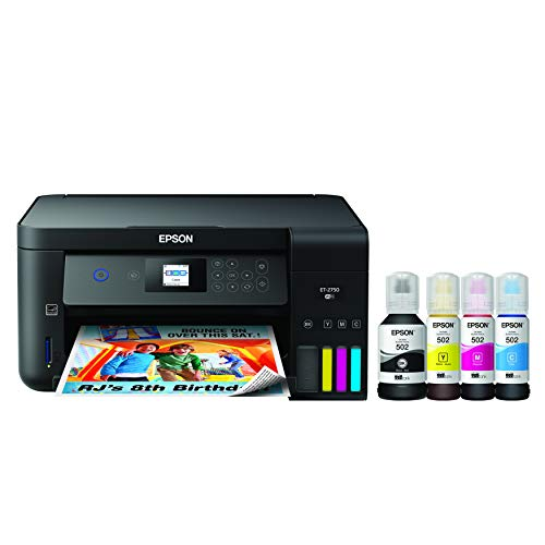 Epson EcoTank ET-2750 Wireless Color All-in-One Cartridge-Free Supertank Printer with...