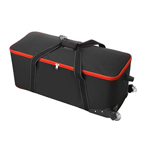 PIXAPRO Medium Roller Case Rolling Case with Foam Interior Wheeled with Handle Dividers Carry Bag Well Padded Adjustable Inserts Photography Equipment Transport Location Storage (Medium Roller Case)