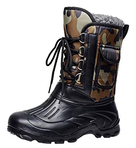 mächtig Graue Männer Outdoor-Stiefel für kaltes Wetter Eiswarmes Schnüren Wasserdichte Winterstiefel…