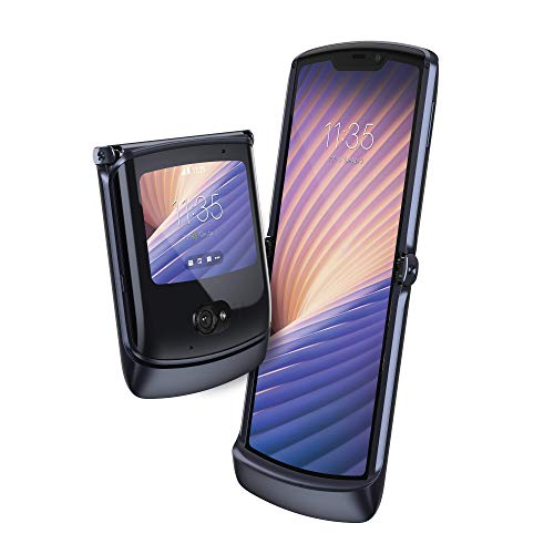 Motorola RAZR 5G (display flessibile 6.2', display esterno quick view 2.7', 5G, fotocamera 48 MP, octa-core Qualcomm Snapdragon 765, 2800 mAH, Dual SIM, 8/256GB, Android 10), Polished Graphite