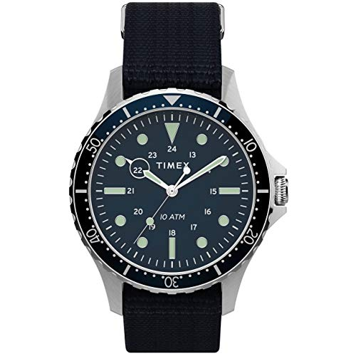 Timex 41 mm Navi XL 3-Hand Silver/Blue/Blue One Size