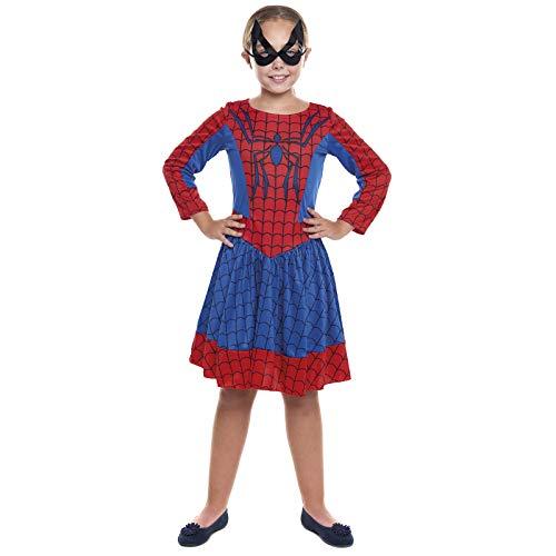 Disfraz Superherona Spider Girl NiaTallas Infantiles de 3 a 12 aos[Talla 5-6 aos] | Disfraces Nias Superhroes Carnaval Halloween Regalos Nios Cosplay Cmics