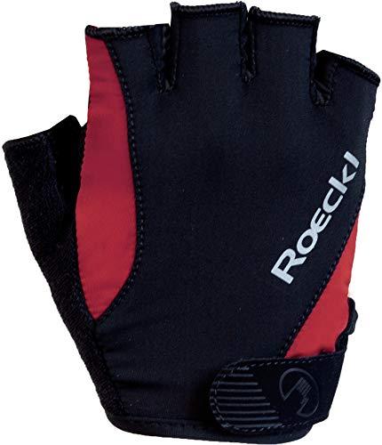 Roeckl Basel Fahrrad Handschuhe kurz schwarz/rot 2020: Größe: 11.5