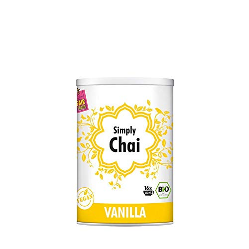 Simply Chai | Vanilla | Bio | Vegan | Laktose-frei | 250 g Dose | Leckerer Chai Tee zum genießen | Chai Pulver