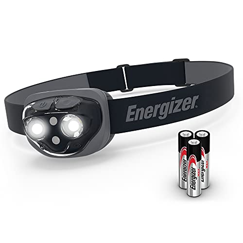 Energizer Midnight Black LED Headlamp with Smart Dimming Technology, One...