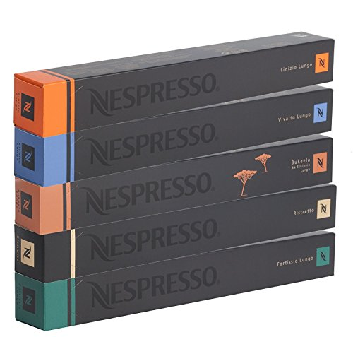 50 Nespresso Coffee Capsules Lungos and Ristretto Mix (1)