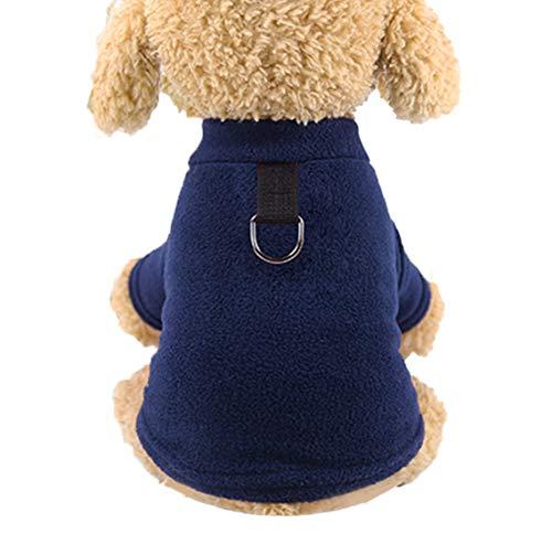 Mono De Invierno Perro, Mascota De Lana Chaqueta De Abrigo para Perros Perro Duradera A Prueba De Viento Escudo Térmico para Espesar Pequeños Perros Medianos
