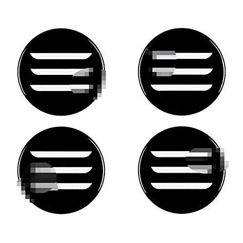 XKMY Centrales Tapacubos, Compatible para TES la Model 3 Centro Cubo Tapas De Rueda Prueba De Polvo Plastico O AleacióN Pegatinas Logotipo Accesorios De Coche Decorativas Ruedas Trim 4Pcs 58mm