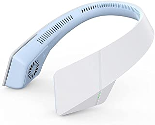 Sin Cuello de Cuchilla Ventilador de Cuello 2400mAh Ventilador de Cuello Colgante portátil Recargable con USB Manos Libres...