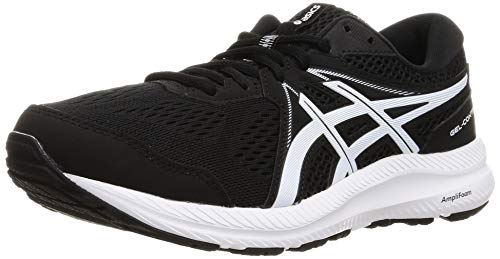 Asics Gel-Contend 7, Road Running Shoe Hombre, Black/White, 42.5 EU