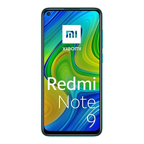 """Xiaomi Note 9 -Smartphone + Cuffie 6.53"""" FHD+ DotDisplay (3GB RAM, 64GB ROM, Quad Camera , 5020mah Batteria, NFC) 2020 [Versione Italiana] - Colore Forest Green"""