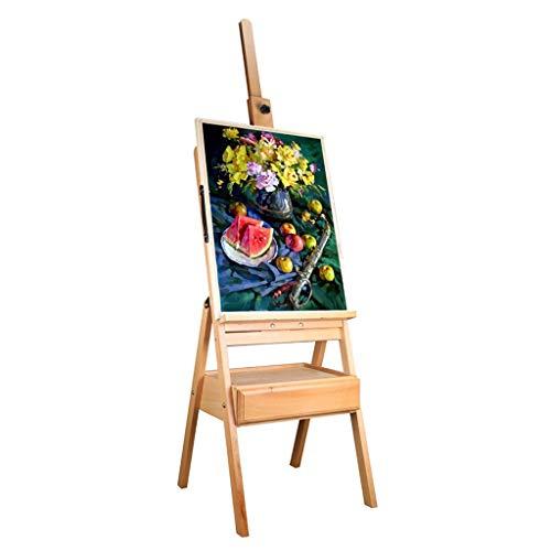 KEKEYANG Caballete de Madera bocetos Caballete con la Pintura al óleo cajones de Caballete bocetos al óleo Base Base for Adultos Arte