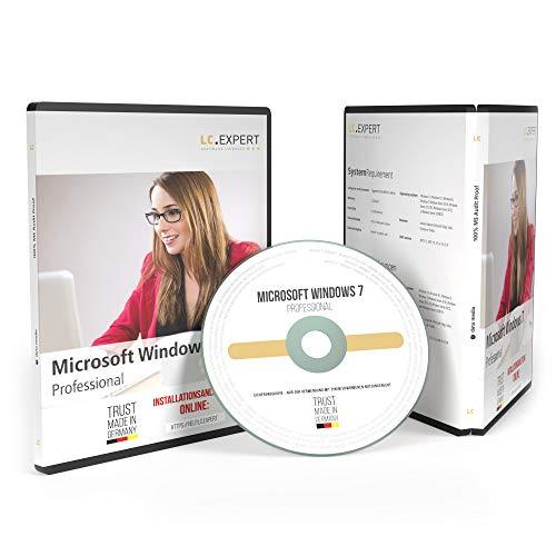 Windows 7 Professional 64bit ISO DVD mit Lizenzunterlagen und inkl. aller aktuellen Updates, auditsichere Volumenlizenz von lc.expert