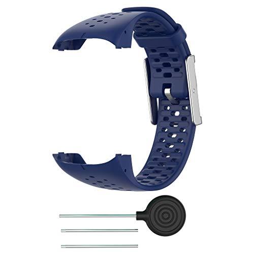 DALIN Smart Watch Correa de silicona para Polar M400 M430 Transpirable Pulsera