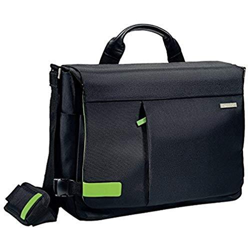Leitz, Leichte Business Messenger-Tasche für 15.6 Zoll Laptop, Smart Traveller, Polyester/Metall/Leder, Complete, Schwarz, 60190095