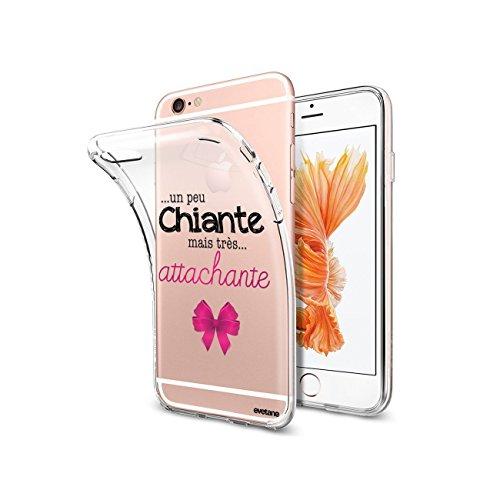 Evetane Coque Compatible avec iPhone 6/6S Souple Silicone Solide Ultra Resistant Fine Protection Housse Etui Transparente Un Peu Chiante Tres attachante Motif Tendance.