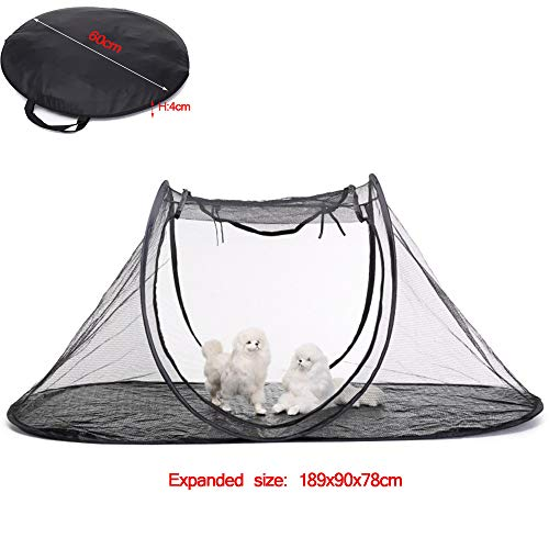 Opvouwbare huisdier tent voor outdoor camping ademend net anti-muggenbeten, Oxford doek reizen hek kat hond bed pop-up huisdier tent