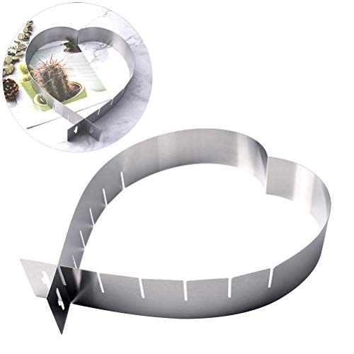 Cake Ring Adjustable Retractable Stainless Steel Heart Shaped Mousse Tiramisu Mold Mousse Ring Pastry Mold Cutter Baking Tool