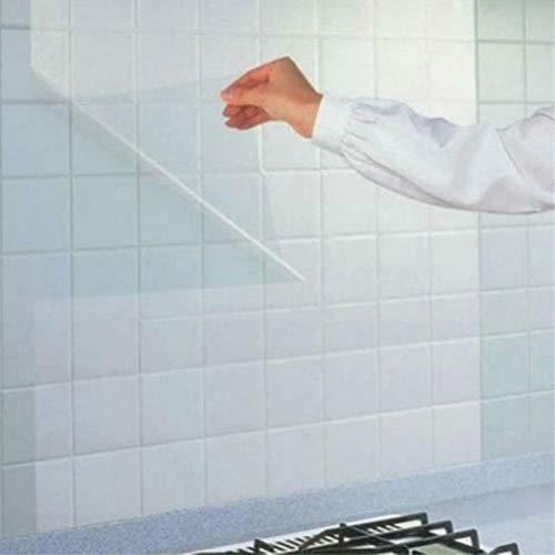 MSIKU Muursticker 68 * 45Cm Transparant Olie Scheiding Muurstickers Keuken Keramische Tegel Sticker Meubelbescherming Hittebestendige Muurstickers