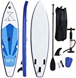 Silvertree Inflatable Stand Up Paddle Board with Premium SUP Accessories, Carry Bag,