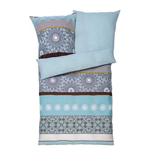 Good Morning! PureDay Theresa Parure de lit en coton renforcé avec fermeture Éclair 155 x 220 cm
