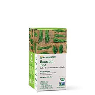 Amazing Grass Greens Trio: Greens Powder with Wheatgrass, Alfalfa, & Barley Grass, Rich Source of Chlorophyll, 15 Servings (B004TJD6LI) | Amazon price tracker / tracking, Amazon price history charts, Amazon price watches, Amazon price drop alerts