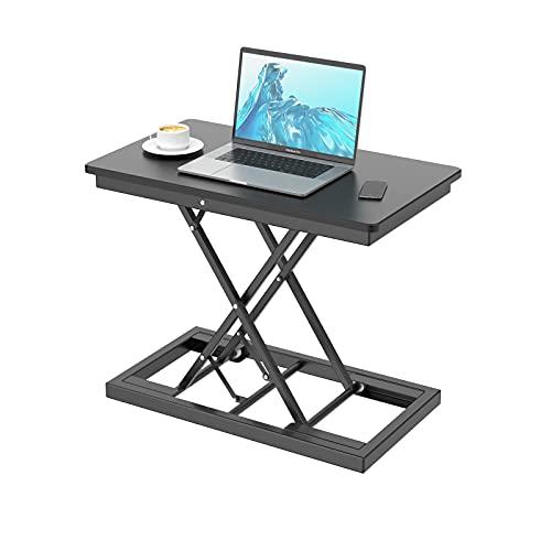 Sitt-stå-skrivbordsfäste höjdjusterbart, sit-stativ-arbetsstation, ergonomiskt laptopbord för kontor ståskrivbord omvandlare