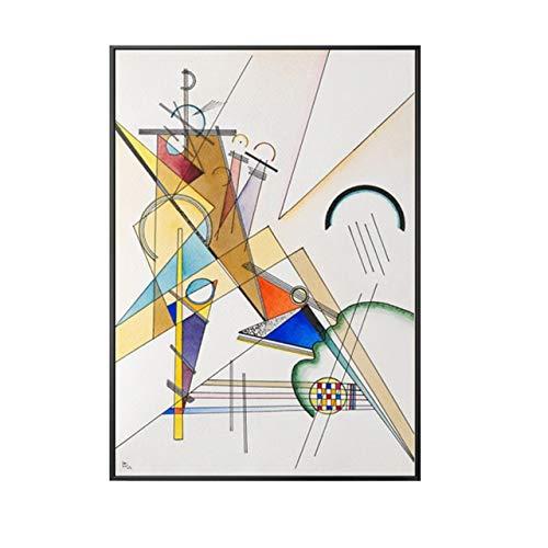 Berühmte abstrakte Ölgemälde-Kandinsky-geometrische Muster-Leinwand-Malerei Wand-Kunst-Bilder for Wohnzimmer-Ölgemälde Poster (Color : B, Size (Inch) : 60x90cm(No frame))
