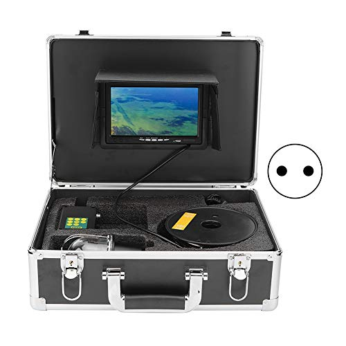 Buscador de peces con video, monitor subacuático de línea 800TV HD CCD de 100‑240 V, cable anticorrosión con(European regulations)