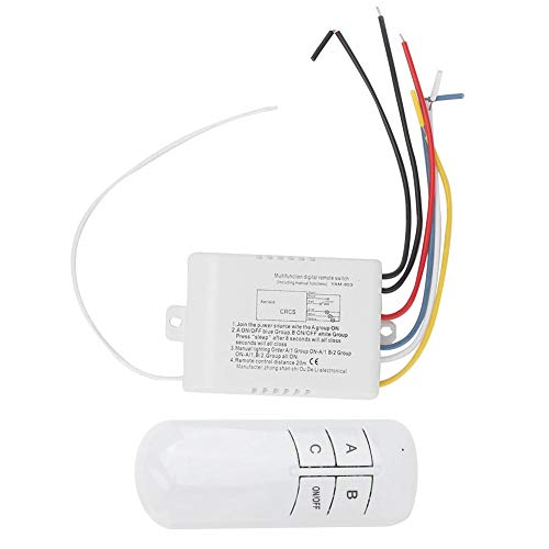 Kit de interruptor remoto, interruptor de luz inalámbrico práctico y duradero de encendido/apagado y receptor para luz LED para luces de techo para ventiladores