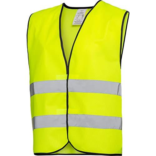 Safe Max® Sicherheitsweste Warnweste Motorrad Fahrrad gelb Warnweste 1.0 gelb, Unisex, Multipurpose, Ganzjährig, Textil, Einheitsgröße
