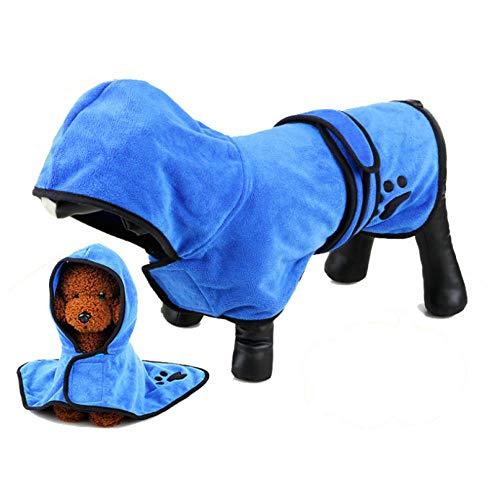 MUXIAND huisdierenkleding Waterdichte badhanddoek warme badjas Kerstmis Leuke Mode Zachte Comfortabele Populaire Kleine Medium Grips Rendier Bijpassende, XXL