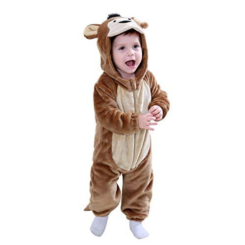 Combinaison d'escalade pour Enfants Mignon Flanelle de Forme Animale Combinaison Barboteuse de Pyjama Cosplay pour Tout-Petits Animaux
