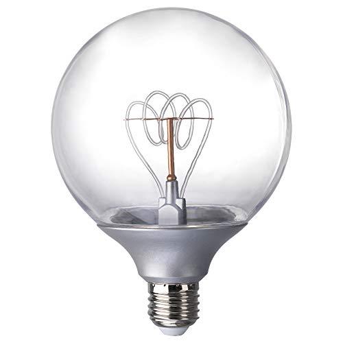 IKEA 003.171.55 Nittio Led Bulb E26 20 Lumen, Globe Silver Color