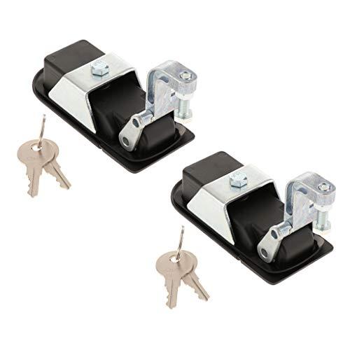 2er Pack Pulverbeschichteter Kompressionsverschluss Aus Zinklegierung Mit 2 Schlüsseln, 29 45 Mm (1,14 1,77 Zoll) Griffbereich, Schwarz