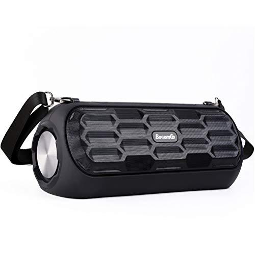 QAR Drahtloser Bluetooth Lautsprecher High Power Subwoofer Tragbarer Schultergurt Mini Musikalische Trommel im Freien Audio