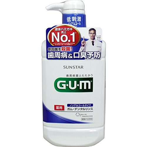 【お徳用 4 セット】 GUM(ガム) 薬用 デンタルリンス ノンアルコールタイプ 960ml×4セット