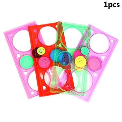 Goodplan Multifunktionslineal Kaleidoskop Lineal Bunte Puzzle Lineal für Kinder Kinder Bildung für Malerei Zufällige Farbe 1 Stücke