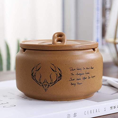 Cenicero retro de cerámica grande 86XH personalidad creativa moda retro europeo pinbaiya