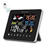 Best Indoor Outdoor Thermometers - SMARTRO Weather Station Color Large Display, Wireless Indoor Review