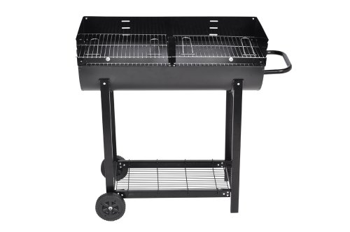 BBQ/ Barbecue affumicatore MEGA a doppia camera / con ruote/ GRIGLIA A CARBONE E LEGNA/SMOKER- ethanol24.com