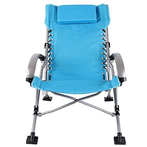 Fauteuil inclinable, inclinable Pliant Camping en Plein air Blue Zero Gravity Garden Sun Lounger Sun Bed Recliner