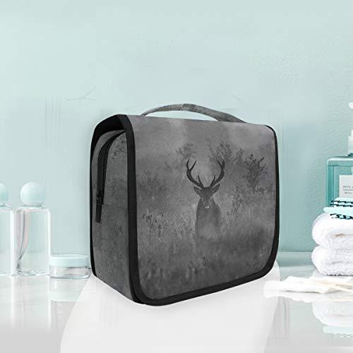 Maquillage Cosmétique Sac Portable Brumeux Forest Deer Cerf Storage Pouch Trousse De Toilette pour Femmes dame